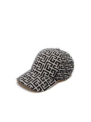 Balmain Balmain monogram pattern cap
