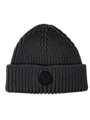 Moncler Moncler english rib knit beani