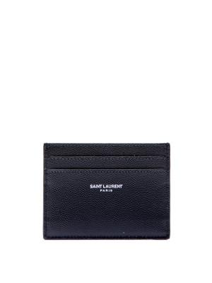 Saint Laurent Paris Saint Laurent Paris YSL CREDIT CARD CASE zwart Accessoires Men