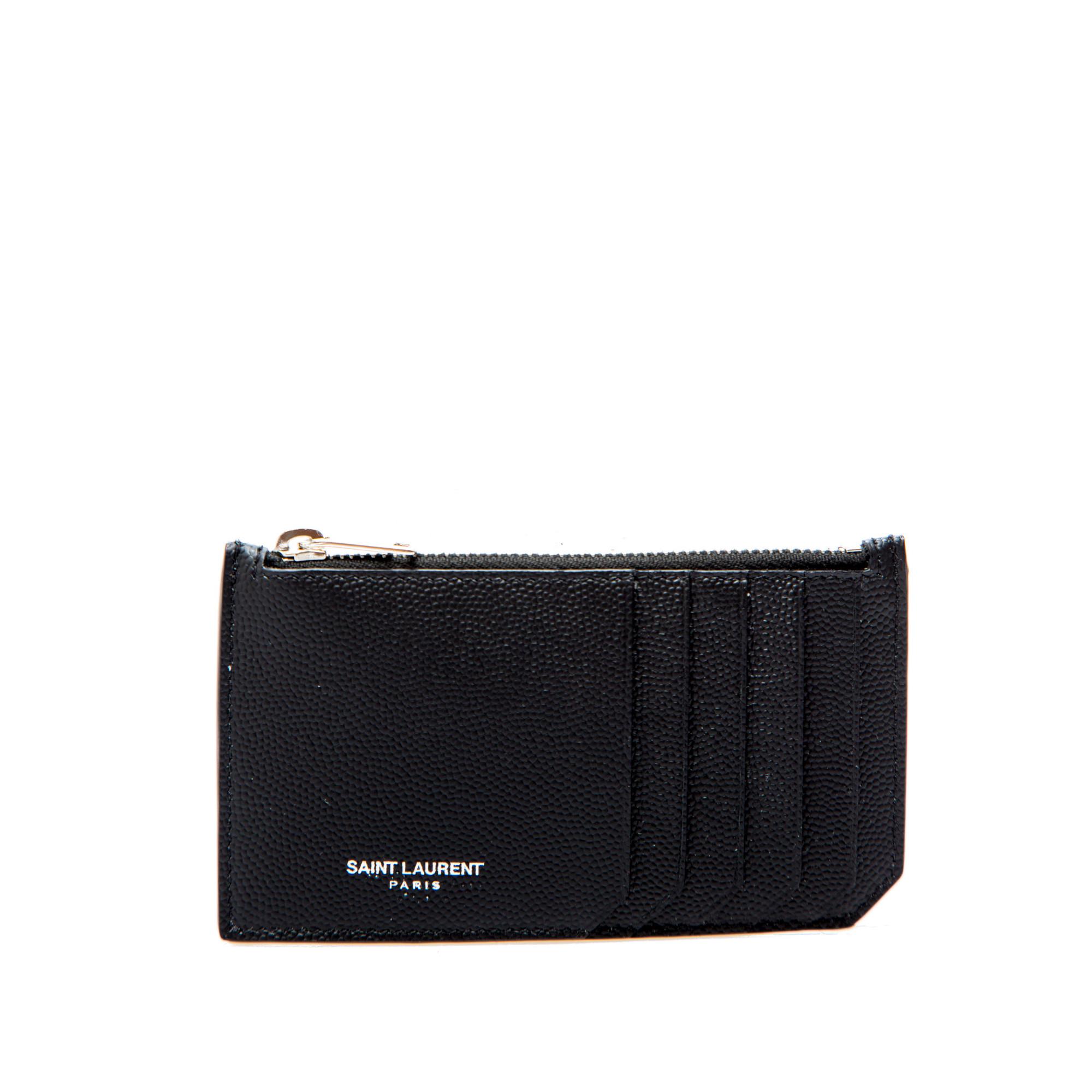 86617156 Saint Laurent Ysl Credit Card Holder 132 Black   Derodeloper.com
