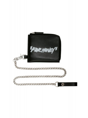 Off White Off White quote chain wallet