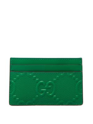 Gucci Gucci card case (805) gg leath