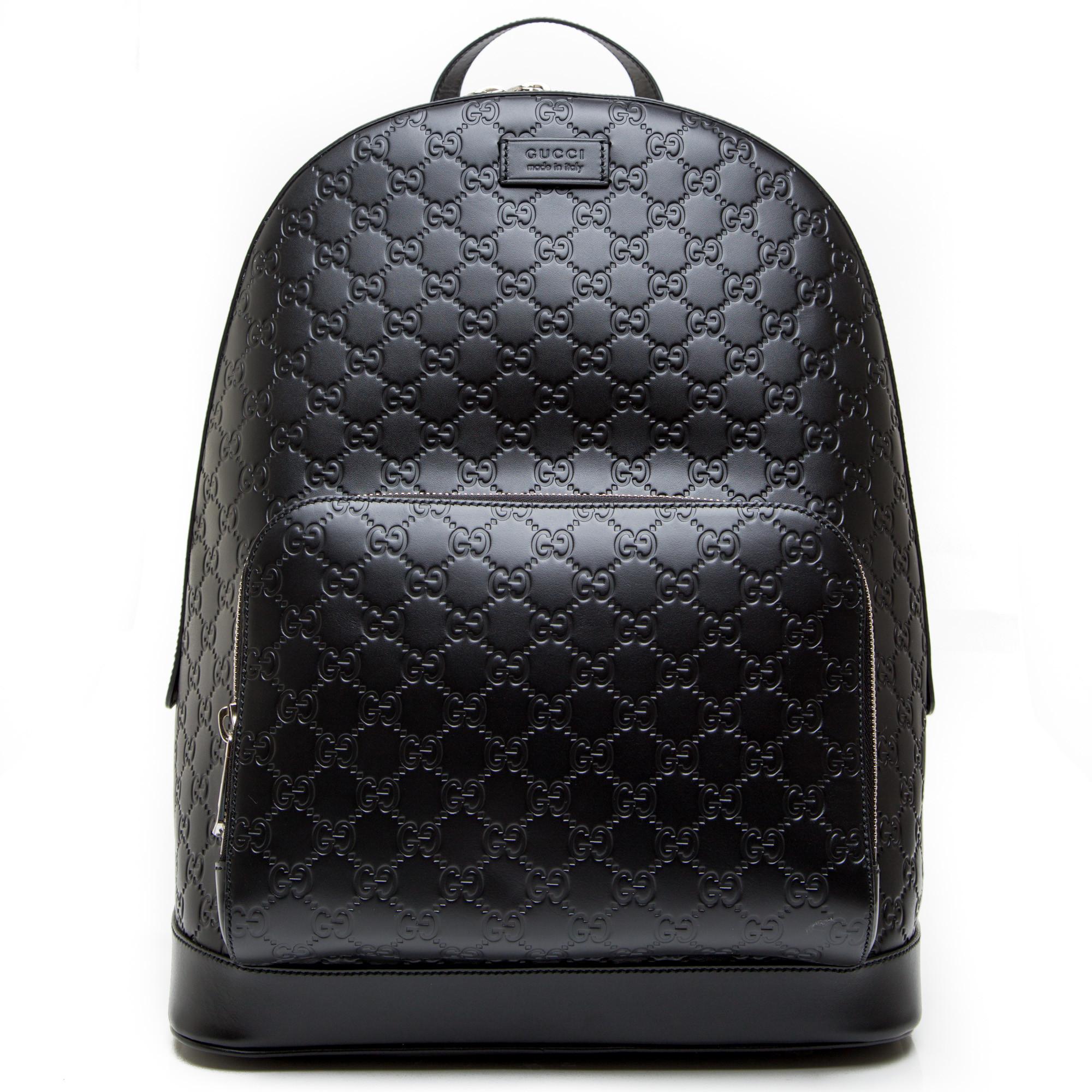 Gucci backpack gucci signature zwart ... 13142ccbd7987
