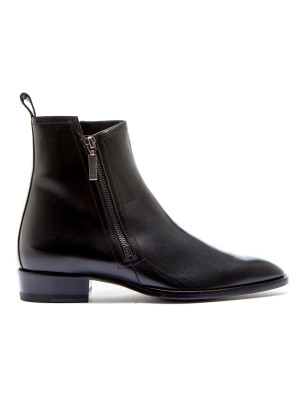 Saint Laurent Paris wyatt 30 zip bootie black 102-00107