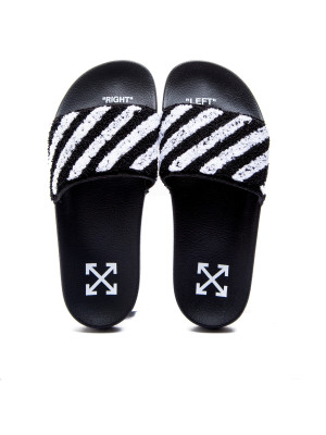 Off White flyknit stripe slide black 105-00222