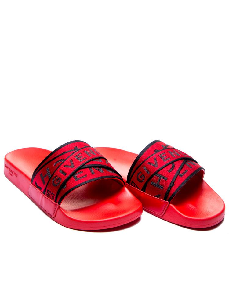 09d4e387584 Givenchy slide flat sandals Givenchy Slide Flat Sandalsrood -  www.credomen.com - Credomen