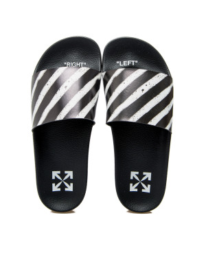 Off White diag stripe sliders 105-00453