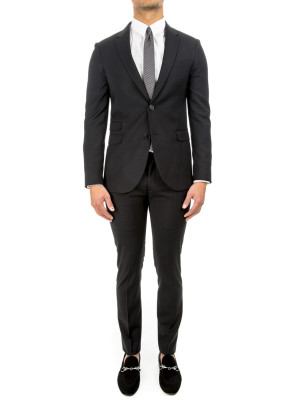 neil barrett woven suit black 412-00136