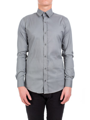 Credo Collection l/s man shirt grijs grey 420-00044