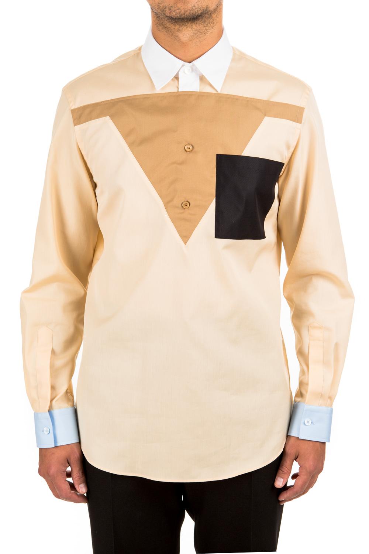Marchio Hem /& Seam Regular Fit Contrast Collar 44 cm Contrast Charcoal With Black Label: 3XL Camicia Business Uomo Mehrfarbig