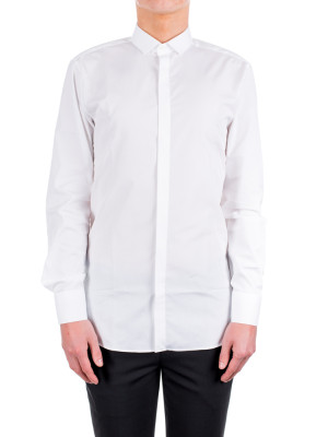 neil barrett woven shirt white 421-00185