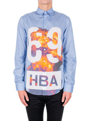hood by air 1969 explosion shirt blue 421-00210