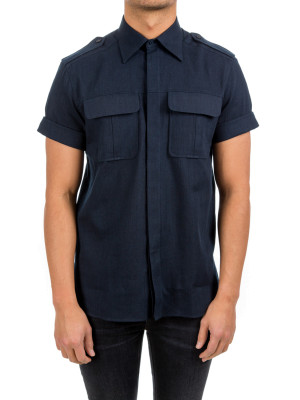 neil barrett woven shirt blue 421-00298