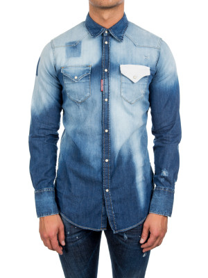 Dsquared2 western shirt blue 421-00320