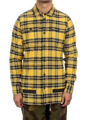 Off White check shirt + rips multi 421-00356