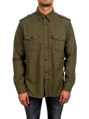 Saint Laurent Paris oversize military shirt green 421-00357