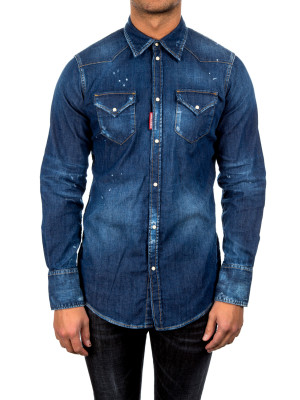 Dsquared2 western shirt blue 421-00369