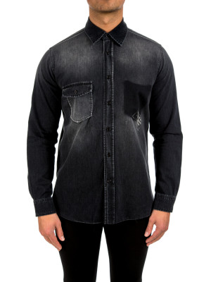 Saint Laurent oversize shirt point black 421-00380