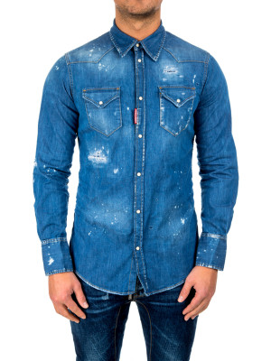 Dsquared2 western shirt blue 421-00381