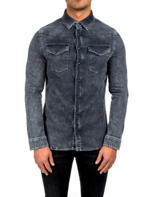 Valentino camicia denim black 421-00384