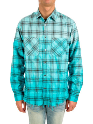 Amiri core ombre plaid shirt 421-00433