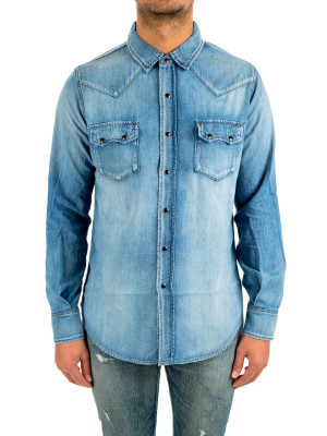Saint Laurent denim classic shirt texas 421-00475