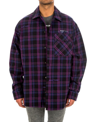 Off White flannel check shirt 421-00581