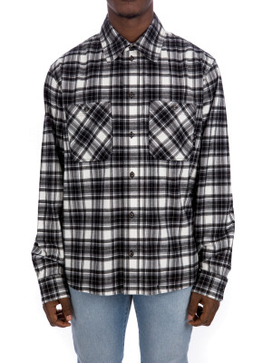 Off White check flan shirt 421-00735