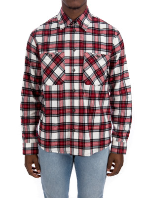 Off White check flan shirt 421-00736