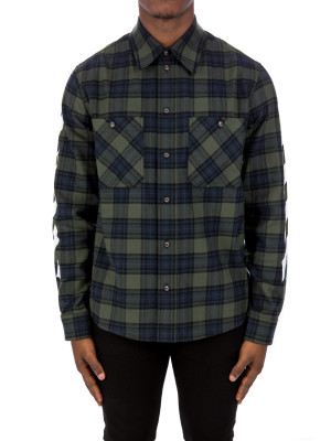 Off White diag flannel shirt 421-00772