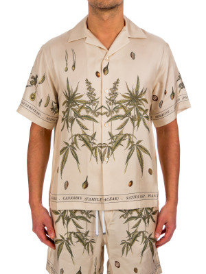 Amiri botanical leave ss shirt 421-00778