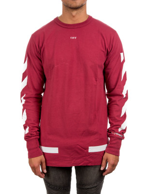 DIAG ARROWS TEE LS crimson 422-00112