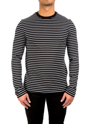 neil barrett striped ls tshirt multi 422-00121
