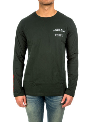 IN GOLD WE TRUST igwt logo longsleeve green 422-00129