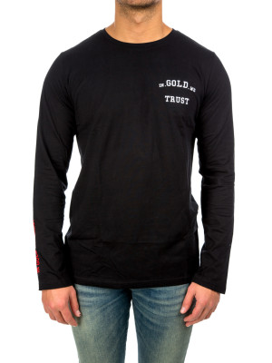 IN GOLD WE TRUST igwt logo longsleeve black 422-00130