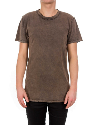 IN GOLD WE TRUST basic oversized t brown 423-01007