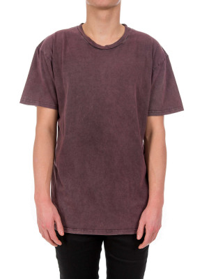 IN GOLD WE TRUST basic oversized t crimson 423-01008