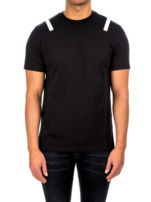 neil barrett taped t-shirt black 423-01566
