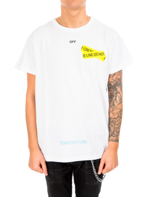 Off White firetape s/s tee white