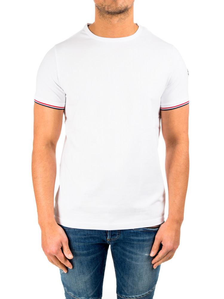 Moncler maglia t shirt white credomen for Off white moncler t shirt