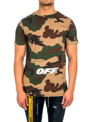 Off White camou s/s slim tee 423-01793