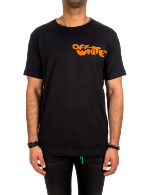 Off White bubble font slim t