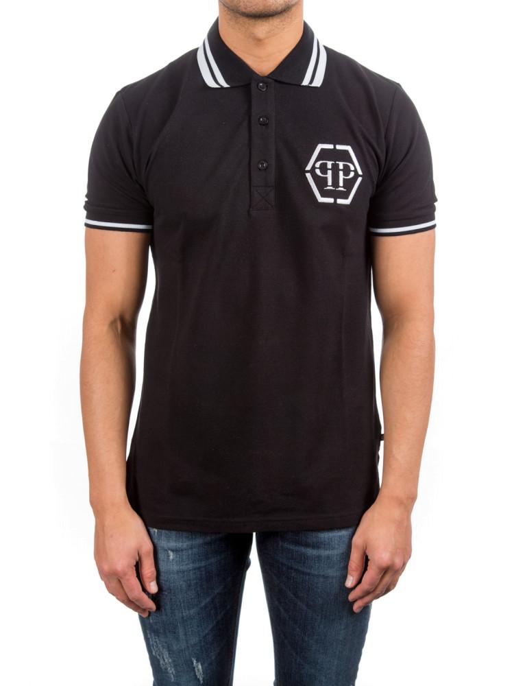 philipp plein polo shirt ss tachi black credomen. Black Bedroom Furniture Sets. Home Design Ideas