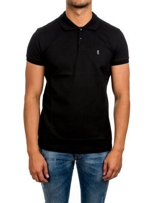 Saint Laurent Paris classical neck polo black 425-00449