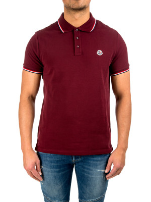 Moncler maglia polo m/c red 425-00515