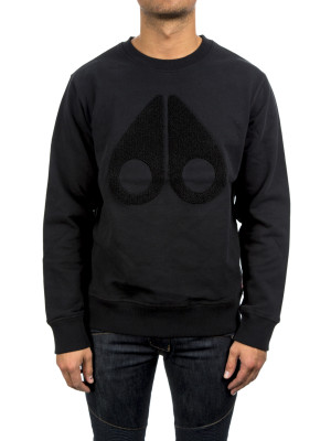 moose knuckles  logo sweatshirt black 427-00364
