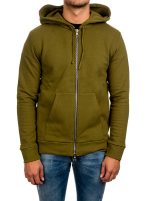 Balmain sweat zippe a capuche green 428-00187