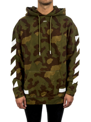 Off White diag camouflage hood green 428-00196