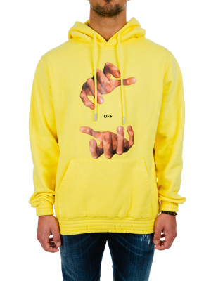 Off White hands hoodie yellow 428-00231