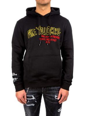 IN GOLD WE TRUST are you hoodie black 428-00256